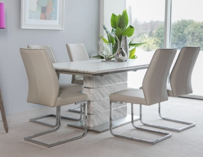 Allure Marble Effect Extending Dining Table