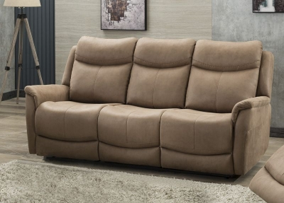 Arizona Caramel Fabric 3 Seater Sofa