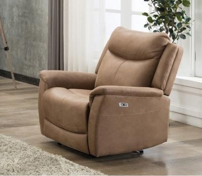 Arizona Caramel Fabric Electric Recliner Armchair