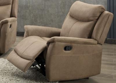 Arizona Caramel Fabric Recliner Armchair