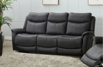 Arizona Slate Fabric 3 Seater Recliner Sofa