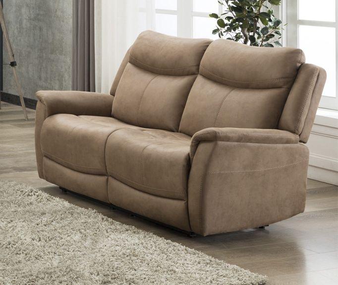 Arizona Caramel Fabric 2 Seater Sofa