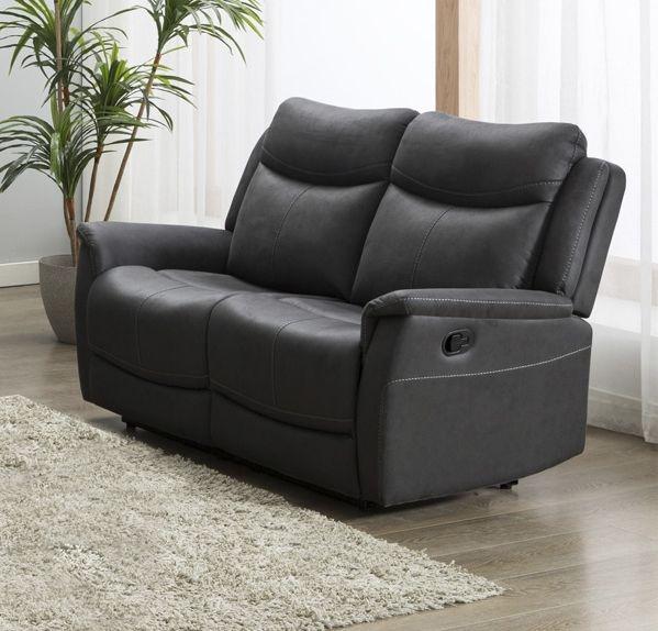 Arizona Slate Fabric 2 Seater Recliner Sofa