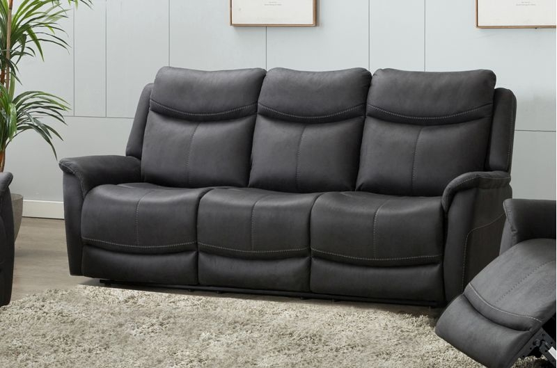 Arizona Slate Fabric 3 Seater Sofa