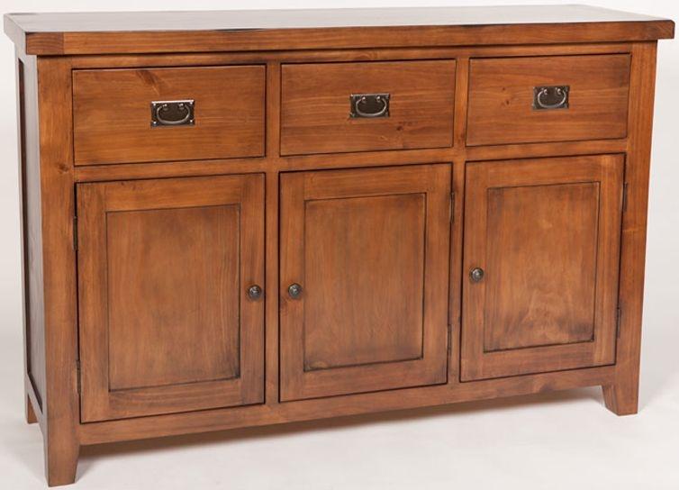 Ashley Pine 3 Door 3 Drawer Wide Sideboard