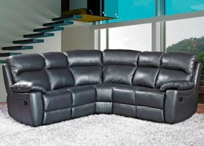 Aston Black Leather Recliner Corner Group