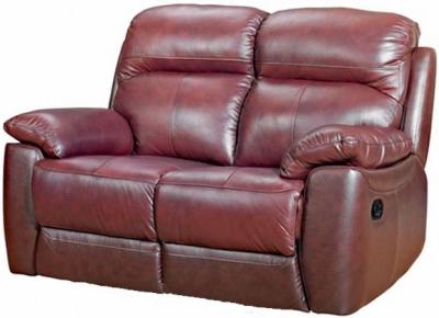 Aston Chestnut Leather 2 Seater Fixed Sofa