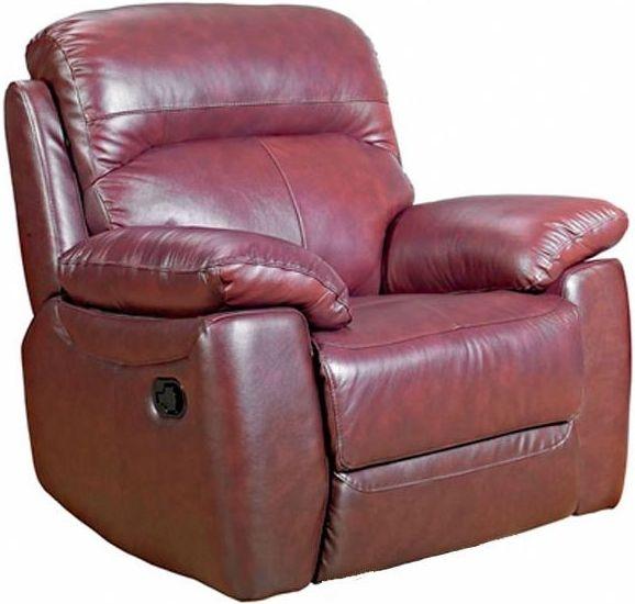 Aston Chestnut Leather Fixed Armchair