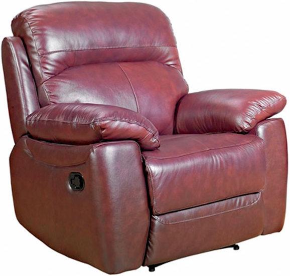 Aston Chestnut Leather Recliner Armchair
