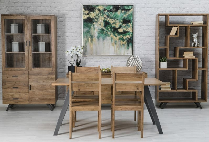 Augusta Acacia Dining Table and 4 Chairs