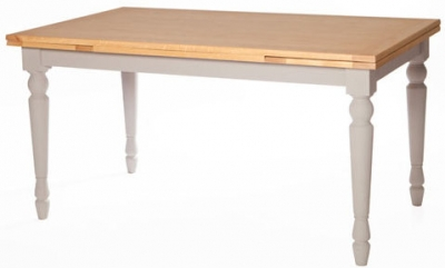 Avoca Painted Large Draw Leaf Extending Dining Table - 150cm-230cm
