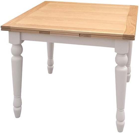 Avoca Painted Small Draw Leaf Extending Dining Table - 90cm-160cm