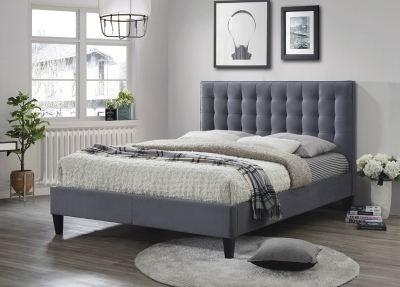 Becky Grey Fabric Bed
