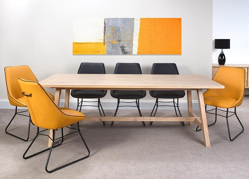 Bergen Oak 220cm Dining Table