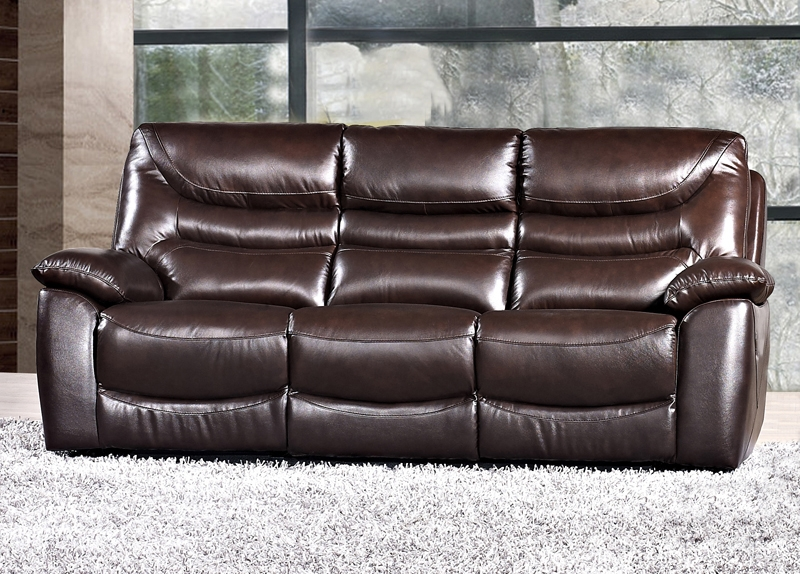 Blake Leather 3 Seater Fixed Sofa