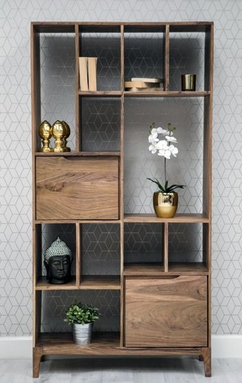 Byron Acacia Wood Bookcase