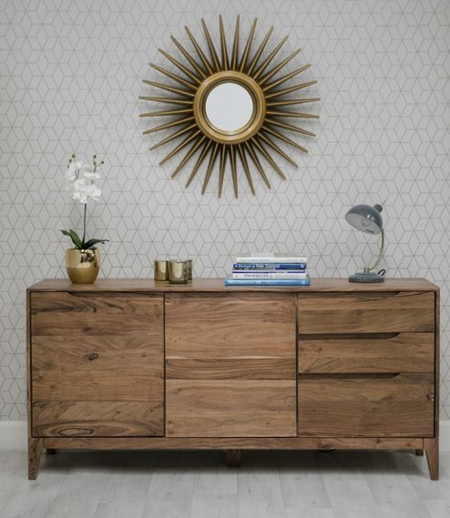 Byron Acacia Wood Large Sideboard