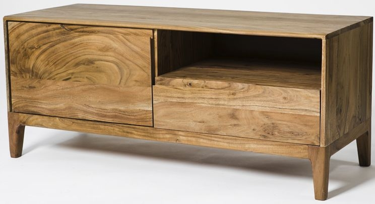 Byron Acacia Wood 1 Door 1 Drawer TV Unit