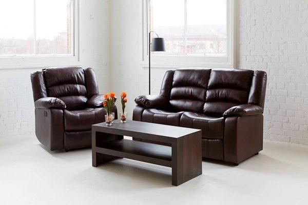 Carla Brown 3 Seater Fixed Sofa