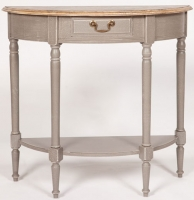 Chateau Painted 1 Drawer Half Moon Console Table