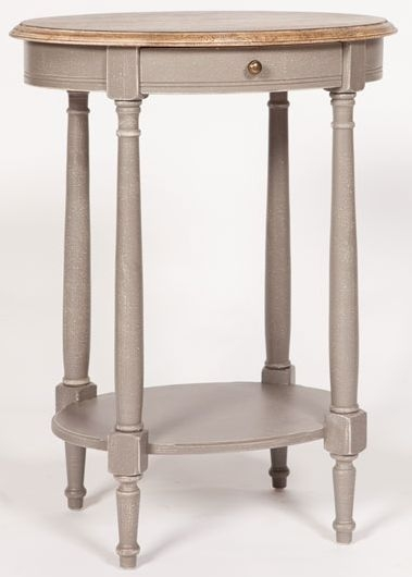 Chateau Painted 1 Drawer Oval Side Table