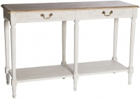 Chateau White 2 Drawer Large Console Table