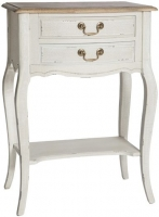 Chateau White 2 Drawer Telephone Table