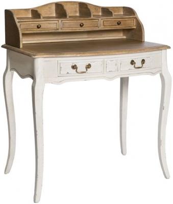 Chateau White 5 Drawer Bureau Desk