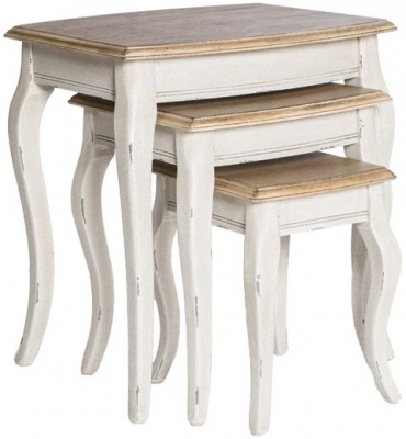 Chateau White Nest of Tables