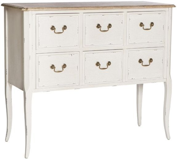 Chateau White 6 Drawer Chest