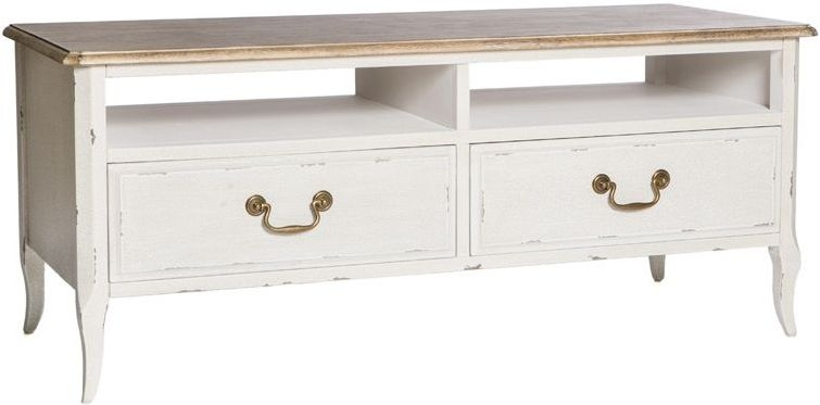 Chateau White 2 Drawer TV Unit