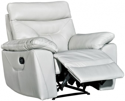 Como Putty Leather Recliner Chair