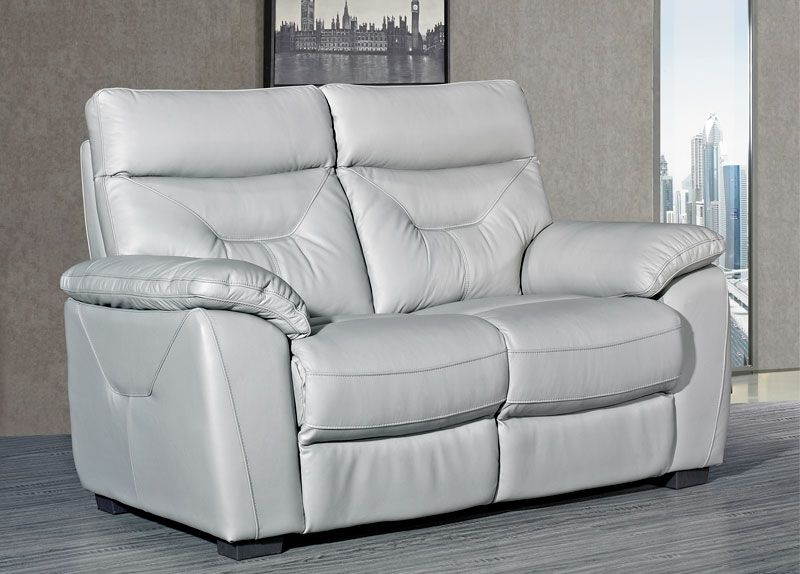 Como Putty Leather 2 Seater Fixed Sofa