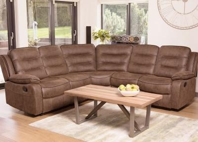 Dakota Caramel Fabric Corner Group Sofa