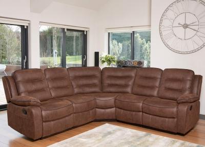 Dakota Brown Fabric Corner Group Sofa