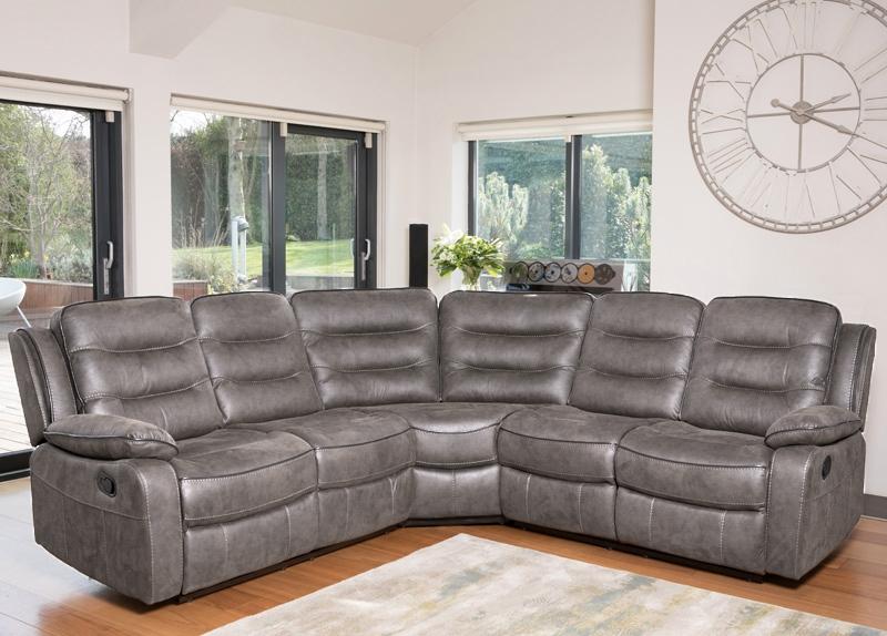 Dakota Grey Fabric Corner Group Sofa