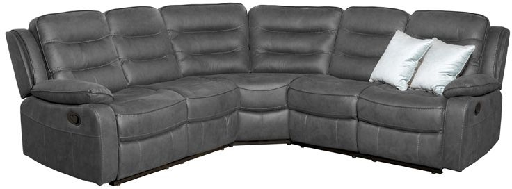 Dakota Slate Fabric Corner Group Sofa