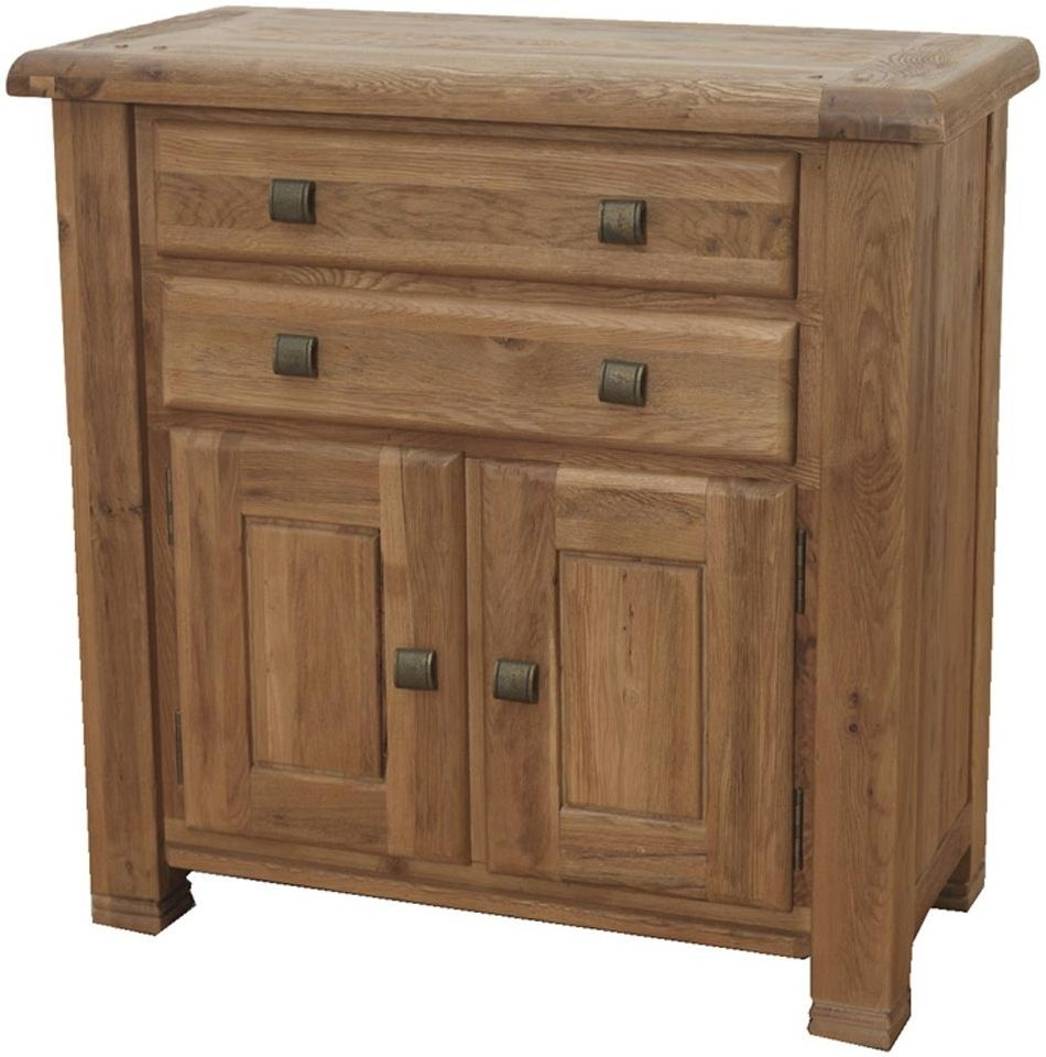 Danube Oak 2 Door 2 Drawer Narrow Sideboard