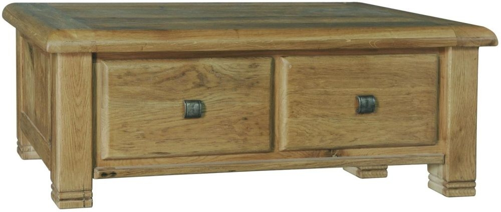 Danube Oak 2 Drawer Storage Coffee Table