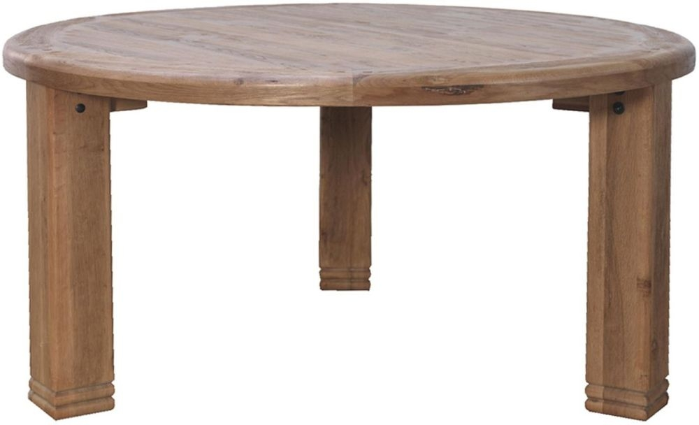 Danube Oak Round Dining Table - 156cm