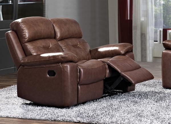 Daytona Leather 2 Seater Fixed Sofa