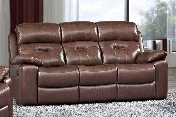 Daytona Leather 3 Seater Fixed Sofa