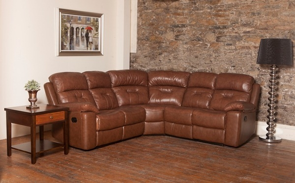 Daytona Leather Corner Group Sofa
