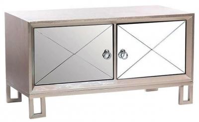 Diamond Silver Mirrored TV Unit