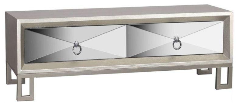 Diamond Silver Mirrored Coffee Table