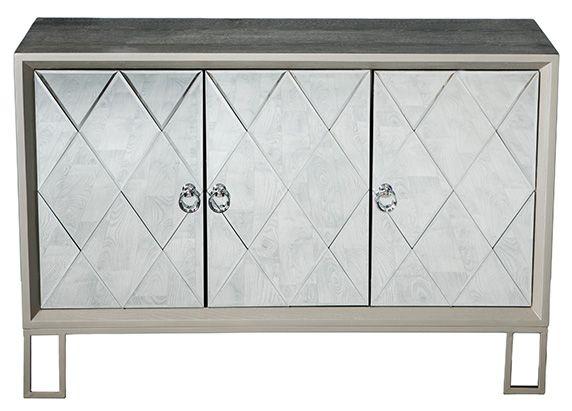 Diamond Silver Mirrored Sideboard