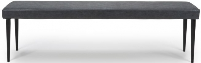 Darcy Wax Grey Faux Leather Dining Bench