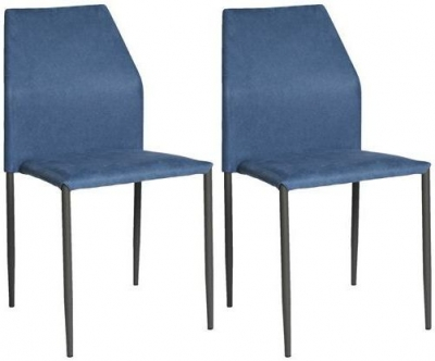 Milo Blue Fabric Stackable Dining Chair (Set of 4)