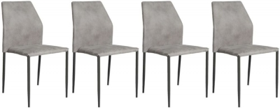 Milo Light Grey Fabric Stackable Dining Chair (Set of 4)