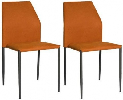 Milo Orange Fabric Stackable Dining Chair (Set of 4)